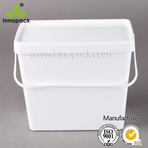 3.7L Rectangular Plastic Laundry Bucket with Lid pictures & photos