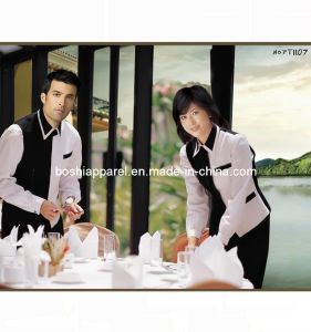 Custom Unisex Hotel Workwear, Waiter Uniforms (PT1107) pictures & photos