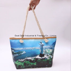 Single-Sided Printing Landscape Canvas Bag pictures & photos