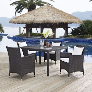 Well Furnir T-094 Wicker 5 Piece Square Patio Dining Set pictures & photos