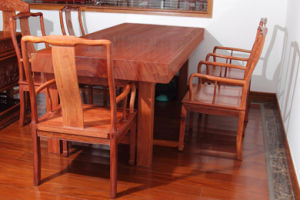 Middle Board African Bubinga Meeting Table with Nature and Beautiful Grain. pictures & photos