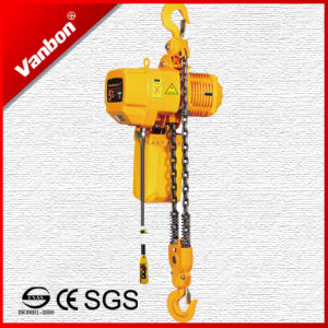 5t Double Lifting Speed Fixed Type Electric Chain Hoist with Hook pictures & photos