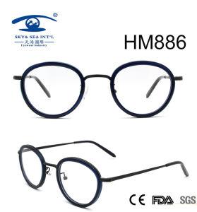 Fashion Style Vintge Round Rim Acetate Eyeglasses (HM886) pictures & photos