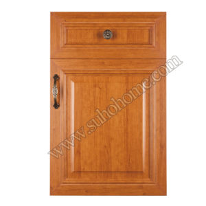 MDF Door Green Environmental PVC Door for Kitchen or Office Zz65A (Light Cherry)