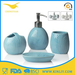Eco-Friendly Modern Ceramic Gift Bathroom Accessory Bath Set pictures & photos