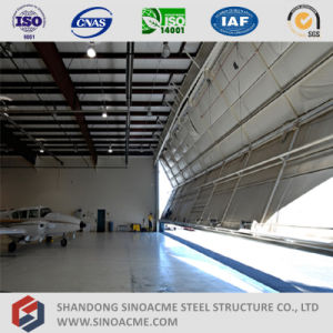 China Supplier Light Steel Structure Airplane Hangar with Folding Door pictures & photos