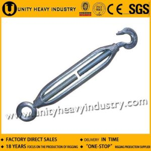 Galvanized Carbon Steel JIS Frame Type Turnbuckle with Hook Eye pictures & photos