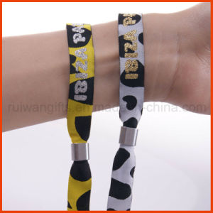Promotional Party Fabric Woven Glitter Wristband (PBR026) pictures & photos