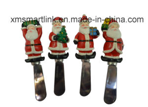 Sculpture Polyresin Santa Handle Butter Knife pictures & photos