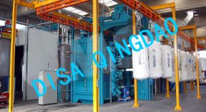 Overhead Conveyor Type Shot Blasting Machine