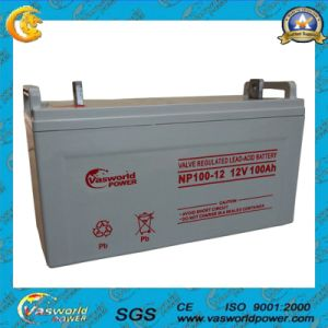 12V90ah Hot Sale Solar Cell Lead Acid Battery pictures & photos