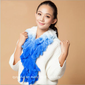 Real Rex Rabbit Fur Scarf with Tassels on Sale