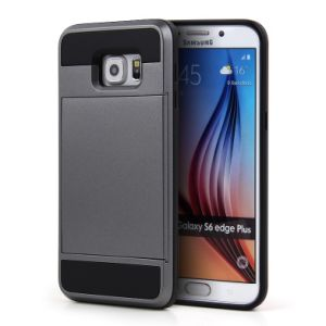 Shockproof Defender Case with Card Holder for Samsung S6 Edge