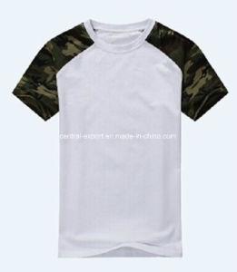 Hot Sale Slim Fit Short Sleeve Cotton Camouflage Men Round Neck T-Shirt pictures & photos