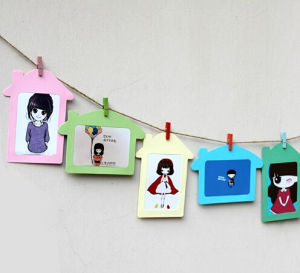 Fashion Hanging Wooden Photo Frames (PA-015) pictures & photos