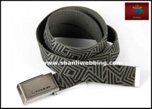 Geometric Printing Fashionable Weaving Jeans Wear Men′s Webbing Belts pictures & photos