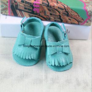 Leather Hook & Loop Baby Shoes 01