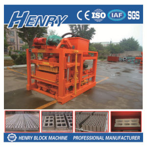 Linyi Henry Machinery Qtj4-40c Widely Used Simple Solid Concrete Block Making Machine pictures & photos