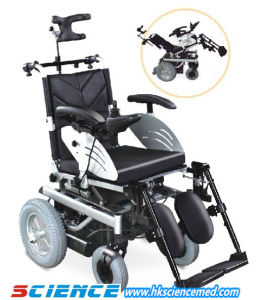 Angle-Adjustable Backrest Steel Reclining Power Wheelchair (SC-EW06 (2)) pictures & photos