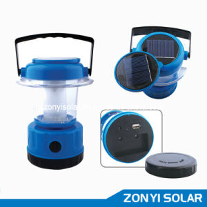 Small Solar Camping Lantern/Solar Lanternt with Mobile Charger (ZY-T90A) pictures & photos