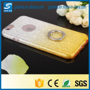 for Luxury Ladies 3 in 1 Plating Glitter Powder Ring Holder for iPhone 7 Back Cover Case pictures & photos