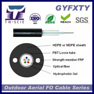 Optical Fiber Cable Single Mode G652D GYXTW Unitube Armored for Outdoor Use pictures & photos