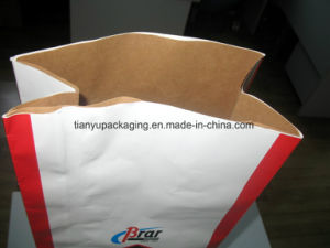 Large Brown Kraft Paper Bag Open Mouth Square Bottom pictures & photos