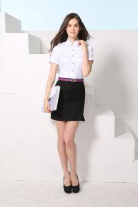 New Design Women′s Short Sleeve Business Dress Shirt pictures & photos