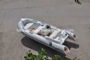 Liya 4.3m High Quality Rib Boat Fiberglass Catamaran Sailing Yacht pictures & photos