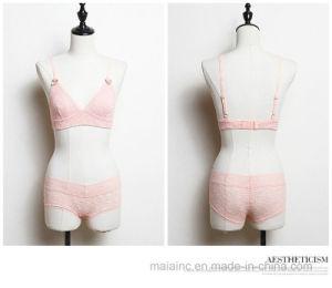 2017 New Thin Lace Ladies Underwear Set pictures & photos