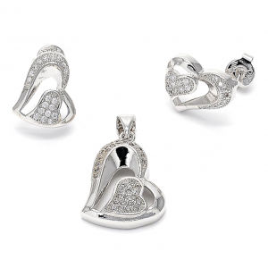 OEM/ODM 925 Silver Jewelry Set with CZ Micro Set pictures & photos