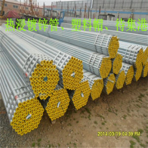 Hot Dipped Galvanized Steel Pipe with Plastic Cap pictures & photos