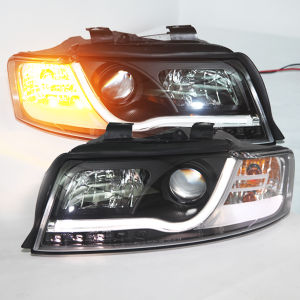 A4 LED Strip Auto Lamp for Audi 2001-2004 Year Black