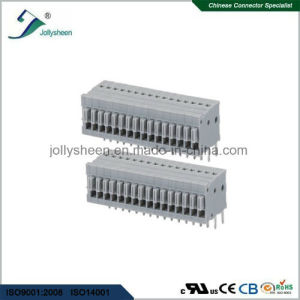 2.54mm PCB Spring Terminal Block Connector, Straight Type Grey Insulator  pictures & photos