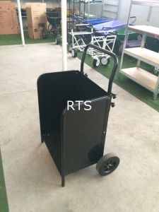 Black Color Easy Carry Wood Cart pictures & photos