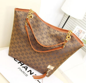 China Guangzhou Cheap Lady PU Tote Handbag