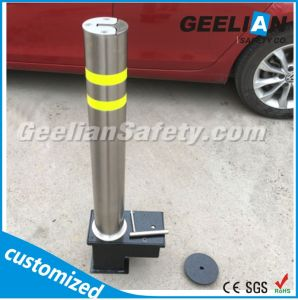 Retractable Bollard for Road Safety, Manual Retractable Flexible Bollard, Traffic Bollard pictures & photos
