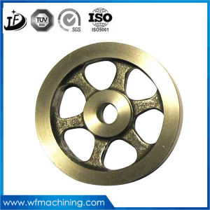 ISO OEM Customized Wrought Iron Pulley Wheel Grey Iron Casting Sand Casting Painting Coating Machining Pulley Fly Wheel pictures & photos