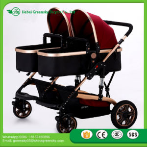 Double Baby Pushchair En1888 Approved Twin Baby Commercial Strollers with Top Sale Twins Baby Stroller pictures & photos