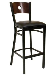 Metal Restaurant Barstool, Bentwood Back, Vinyl Seat pictures & photos