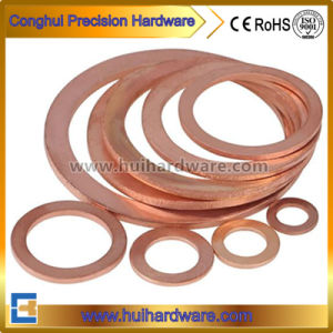DIN Standard Brass/Copper Seal Flat Washer Sealing O Ring Gasket Washer pictures & photos
