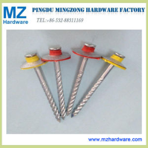 Colorful Head Twisted Shank Twisted Roofing Nail pictures & photos