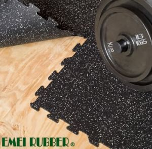 Interlocking Rubber Tile Flooring for Indoor Gym pictures & photos