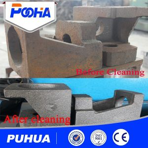 Double Hook Type Castings Parts Shot Blasting Cleaning Machine pictures & photos