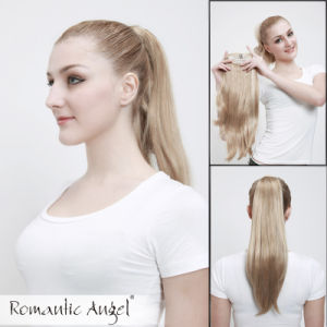 Best Quality of Kanekalon Blonde Fashion Straight Ponytail pictures & photos