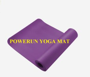 Powerun Wholesale Eco Friendly 1/2 Inch Foam Extra Thick NBR Yoga Mat pictures & photos