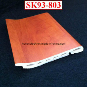 Creative Installation WPC Skirting Board Sk93-803 PVC Film Coated Flooring Skirting Board pictures & photos