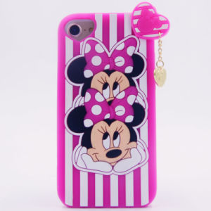 3D Cartoon Double Head Minnie Silicone Case for iPhone 6 6plus 7 7plus Cute Soft Silicon (XSDW-090) pictures & photos