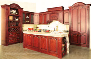 Americal Style Solid Wood Kitchen Cabinet (BR-SA01) pictures & photos