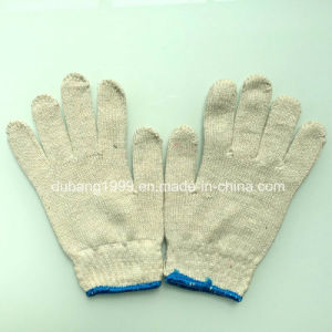 2015 Hot Sale Raw White 7gauge 35g Knitted Cotton Gloves